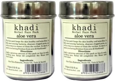 Khadi Herbal Aloe Vera Face Pack ( Pack of 2 )(200 g)  available at flipkart for Rs.240