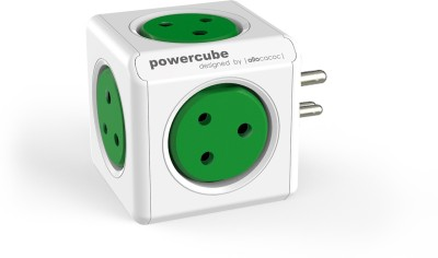 Allocacoc PowerCube orginal-6500 5 Socket Surge Protector(Green)