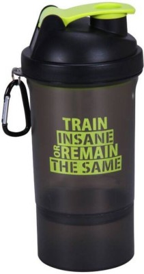 Hyper Adam AN-505 Trendy Shaker With Protein Compartment 600 ml Shaker, Sipper, Bottle(Pack of 1, Black)  available at flipkart for Rs.243