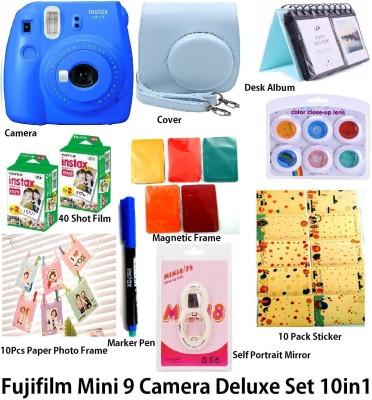 Fujifilm Instax Instax Mini 9 Deluxe Camera Bundle 10 in 1- Cobalt Blue Instant Camera(Blue)