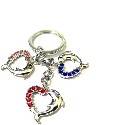 Niteo Dolphin Fish Heart Shape Key Chain  available at flipkart for Rs.169
