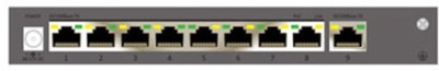 Cp Plus 9 Port Fast Ethernet switch with 8 POE (CP-TNW-HP8H1-12) Network Switch(Grey)