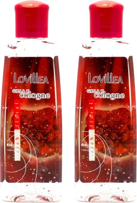 Lovillea Gelly Cologne Rich Floral Pack of 2 Eau de Cologne  -  100 ml(For Men & Women)  available at flipkart for Rs.200