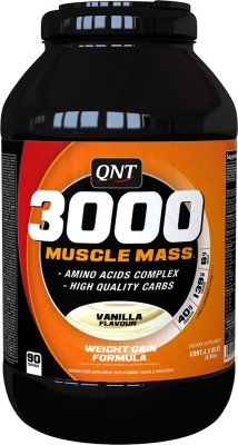 QNT 3000 Muscle Mass Weight Gainers(4.5 kg, Vanilla)