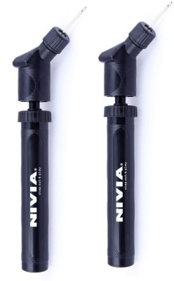 Nivia 'Double Action' Pump  Pack Of 2  Ball Pump Black