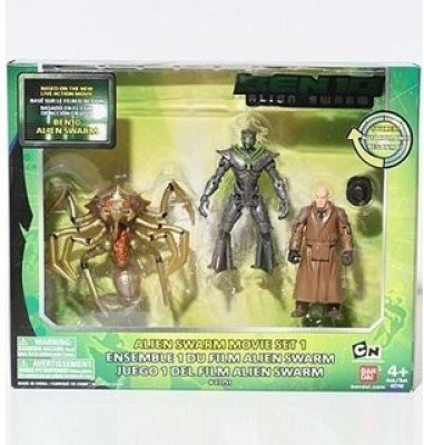 Ben 10 Figure Collection Alien Swarm Movie Set 1(Multicolor)