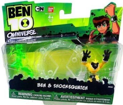 Ben 10 Omniverse Mini Pvc 2 1 2 Inch Figure Ben & Shocksquatch(Multicolor)