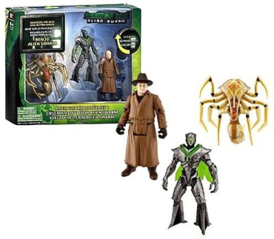 Ben 10 Bandai Movie Collection Series 3 Pack 4 Inch Tall Action Figure Set Alien Swarm Set 1 With Alien Queen Nanomech And Validus(Multicolor)