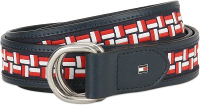 Tommy Hilfiger Men Casual Red, White, Blue Genuine Leather Reversible Belt