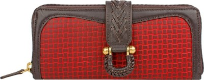 Hidesign Women Red, Brown  Clutch at flipkart