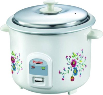 Prestige PRWO 2.2-2 Electric Rice Cooker with Steaming Feature(2.2 L, White)