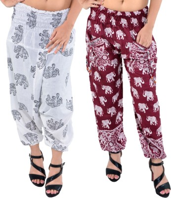 Silver Organisation Printed Cotton Men's & Women's Harem Pants
