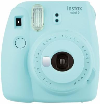 FUJIFILM INSTAX Instax Mini 9 Deluxe Camera Bundle 10 in 1  Ice Blue Instant Camera Blue FUJIFILM Instant Cameras