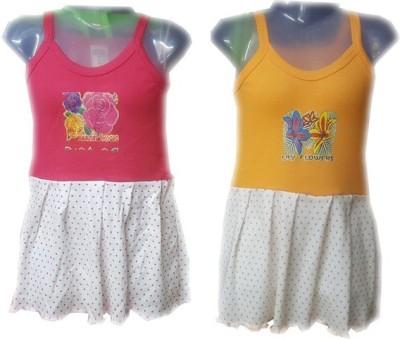 sahara Girls Maxi/Full Length Casual Dress(Multicolor, Fashion Sleeve)  available at flipkart for Rs.195