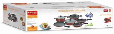 Prestige prestige omega deluxe 6 pc kitchen in a box set Pot, Kadhai, Pan, Tawa Set(Aluminium, Non-stick)  available at flipkart for Rs.5665