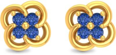P.N.Gadgil Jewellers GER1906BS Yellow Gold 22kt Cubic Zirconia Stud Earring