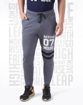 Metronaut Printed Men's Grey Track Pants