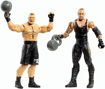 Mattel Wwe Battle Pack Series # 30 Brock Lesnar Vs. Undertaker With kettlebells Figure Two Pack(Multicolor)  available at flipkart for Rs.26525