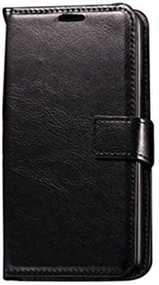 Premsons Flip Cover for Lenovo K4 Note / A7010 / X3 Lite Back Cover PU Leather Flip Case with Card Slot - Black(Black, Shock Proof, Leather)