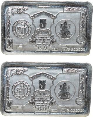 Kataria Jewellers Shree   Laxmi S 999 5 g Silver Bar Pack of 2 Kataria Jewellers Coins   Bars