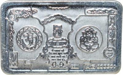 Kataria Jewellers Om   Ganesha S 999 5 g Silver Bar Kataria Jewellers Coins   Bars