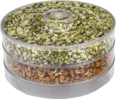 Jen Healthy Sprout Maker ( Medium )  - 1800 ml Plastic Grocery Container(Clear)  available at flipkart for Rs.319