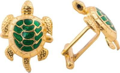 Woman Ambassadors Silver Cufflink(Gold, Green)