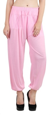 Kannan Solid Viscose Women Harem Pants