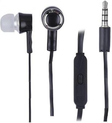 YuniKase in -ear,wi Wired Headset with Mic(Black, In the Ear)