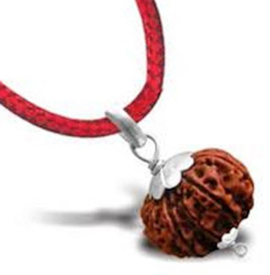 SSG Collections | 8 Mukhi/Faced Rudraksha Pendant, Indonesia/ Java Originated, With Silver Coated Capping (Bead Size: 10-14mm) | 100% Original & Natural Rudrakash | Wood Pendant  available at flipkart for Rs.455