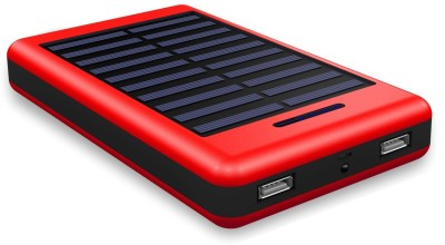 Coolnut High Capacity Dual Output Power Bank With Solar Panel 13000 mAh Power Bank(Red, Lithium-ion) at flipkart
