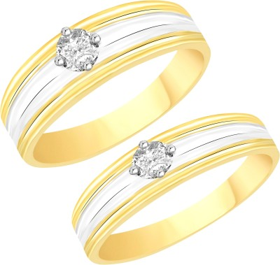 VK Jewels Single Stone Alloy Cubic Zirconia Gold-plated Plated Ring