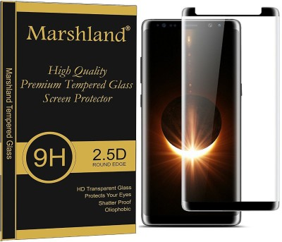 Marshland Edge To Edge Tempered Glass for Samsung Galaxy Note 8 3D Black Full Glue tempered Glass