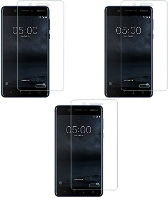 Chappie Moustache Tempered Glass Guard for Nokia 5(Pack of 3)