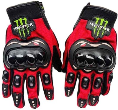 JMD Monster Red Glove Riding Gloves (L, Black)  available at flipkart for Rs.483