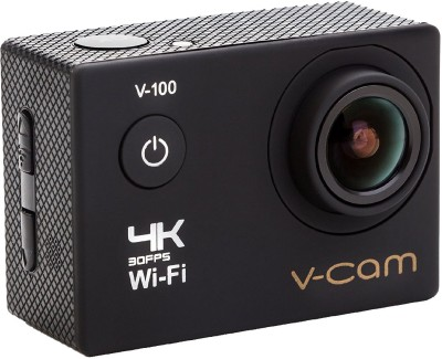 V-CAM Sports Action Sports Action Camera 4k Wifi 16 MP with High Speed Shooting & Definition Equipped with IP68 waterproof case,durable waterproof to 100 Feet Including 22 Accessories Sports and Action Camera(Black 16 MP)   Camera  (V-CAM)