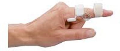Saket Ortho Rehab International Private Limited Capner Splint (Large) Finger Support (L, White)