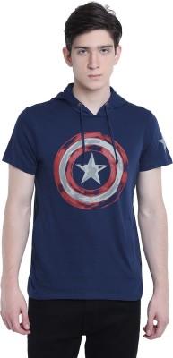Captain America Half Sleeve Graphic Print Men's Sweatshirt