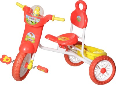 NHR Kids VEGA Musical tricycle with Storage Basket and Lights (Red) VEGA_DX_RED Tricycle(Red)