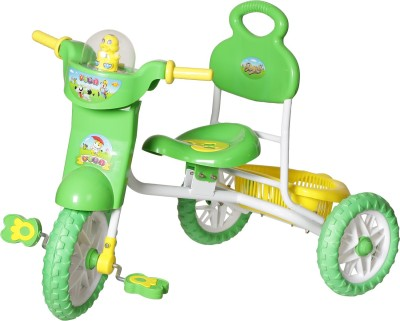 NHR Kids VEGA Musical tricycle with Storage Basket and Lights (Green) Tricycle(Green)