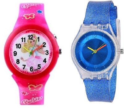 a33a6660f388 25% OFF on COSMIC Amazing Light Pink Barbie Kids Watch and Multi Colour  Light with XYZ-SPARKLING DARK BLUE FEATHER OR LIGHT WEIGHT kids Watch - For  Girls on ...