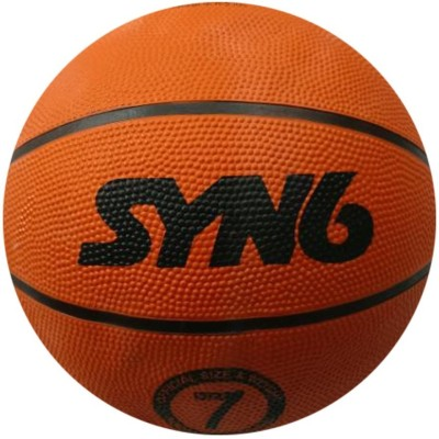 SYN6 Basket ball - Size 7 , NBA standard professional basketball , High Performance Rubber, Superior Grip , Super Durability Basketball - Size: 7(Pack of 1, Multicolor)