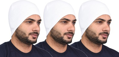 Shaun Solid SKULL CAP Cap(Pack of 3)