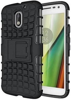 4 ur Fone Back Cover for Motorola Moto E3 Power(Black, Shock Proof, Rubber)