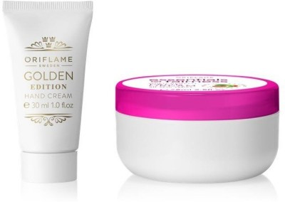 Oriflame Sweden Essential Fairness Multi benefit Face Cream & Golden Edition Hand Cream(Set of 2)  available at flipkart for Rs.349