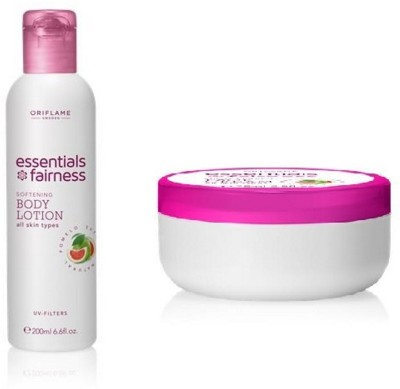 Oriflame Sweden Essential Fairness Softening Body Lotion & Multi Benefit Face Cream(Set of 2)  available at flipkart for Rs.363
