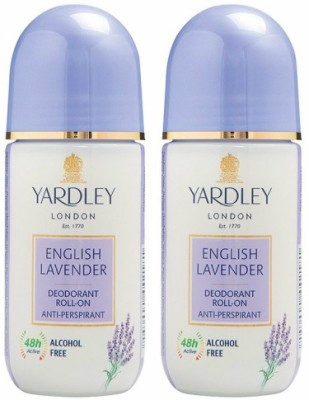 Yardley London 2 English Lavender Deodorant Roll-on - For Men & Women(Pack of 2) Deodorant Roll-on  -  For Men & Women(100 ml, Pack of 2)  available at flipkart for Rs.380