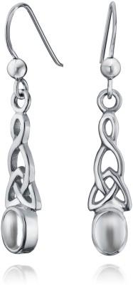Bling Jewelry Silver Celtic Knot Oval Moonstone Dangle Earrings Moonstone Sterling Silver Dangle Earring