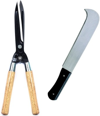 Truphe Hedge Shear, Garden Shear, Grass Cutter, Tree Cutter Bill Hook with Wooden Handle, Garden Tool Set (Made In India) - Pack of 2 Garden Tool Kit(2 Tools)  available at flipkart for Rs.739
