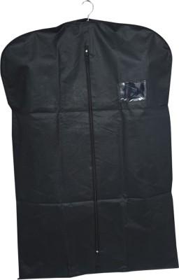 KUBER INDUSTRIES Designer Men's Coat Blazer cover Foldover Breathable Garment Bag Suit cover  Black SAREESCKU8927 Black KUBER INDUSTRIES Garment Cover